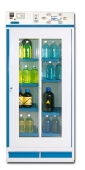 Cabinets for storing chemicals with a filtration system