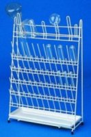 Draining racks,PE-coated wire for 24 test tubes and 20 flasks