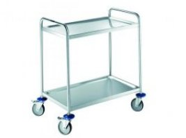 MSW Trolley, stainless steel, 2 shelves