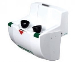 PremiumLine frostprotected heated eye-/face wash unit bowl and lid, wall mounted, exposed pipework