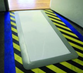 Clean room mats Sticky Mat blue and Frame grey mats 46 x 114 cm, adhesive, set of 10 mats of 30 sheets + 1 frame